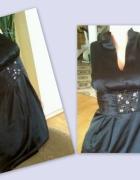 Satynowa black sukienka nowa S