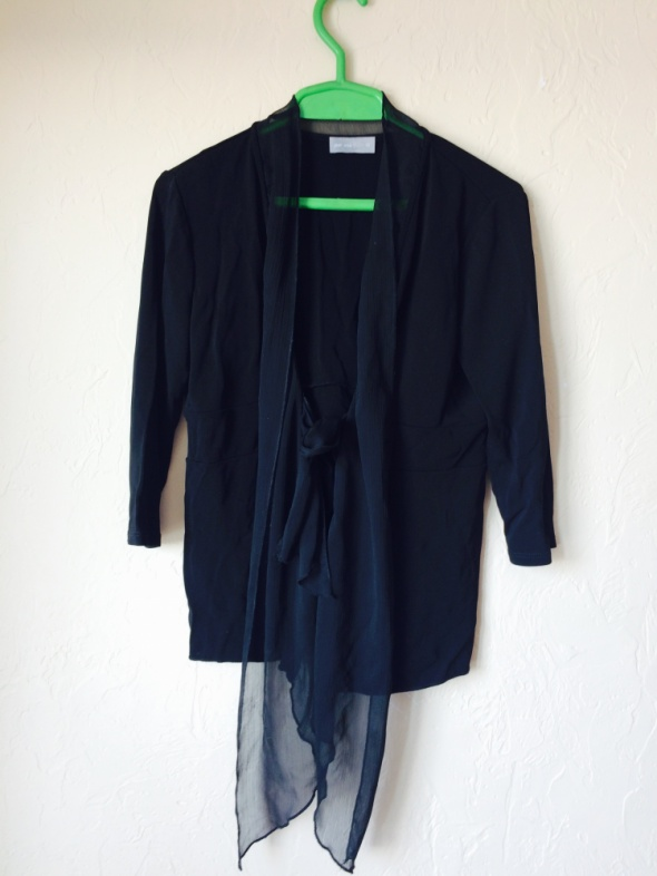 Bluzki Czarna wiązana z przodu bluzka L