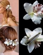 Kwiat do włosów spinka orchidea ślub komunia