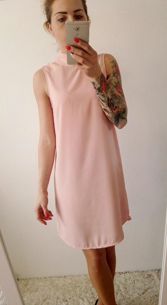 Eleganckie sukienka pudrowa H&M elegancka