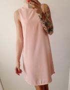 sukienka pudrowa H&M elegancka...