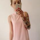 sukienka pudrowa H&M elegancka