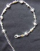 Śliczna srebrna bransoletka 925
