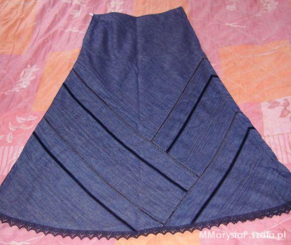 Spódnice Maxi jeansowa cienka