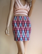 Modna kolorowa spódnica mini Pimkie 38...