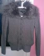 Szary sweter z misiem w środku Tally Weijl 36 S