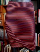 Granatowo czerwona spódnica asymetryczna Lindex...