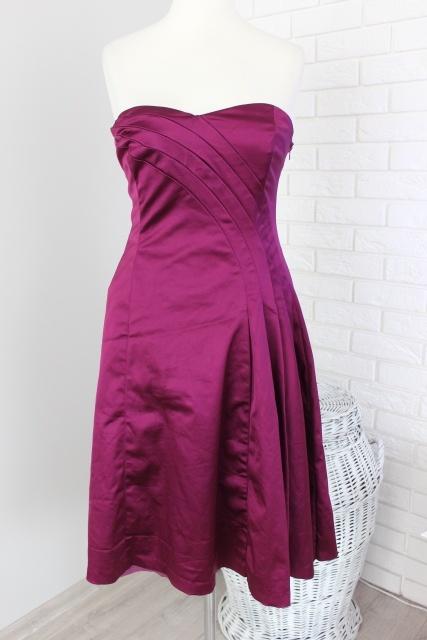 a015c04be2 COAST FIOLETOWA SUKIENKA NA WESELE 38 M w Suknie i sukienki - Szafa.pl