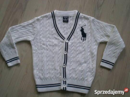Sweterek Ralph Lauren zapinany na guziki...