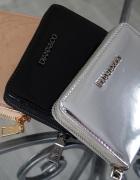 Metaliczny portfel black