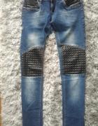 Spodnie ze wstawkami z ekoskóry