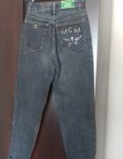 MCM spodnie wysoki stan lata 90 hipsterskie XS S