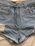 Vintage spodenki jeansowe z wysokim stanem S...