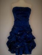 Maner szafirowa suknia balowa