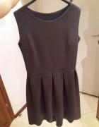 Szara sukienka asymetryczna r38