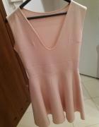 Pudrowa sukienka r 38