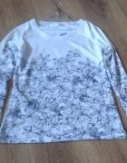 Biala bluzka w kwiaty XS