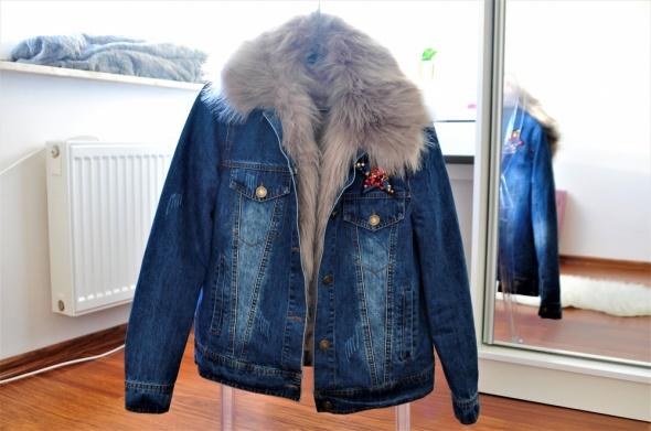 Odzież wierzchnia Jeansowa kurteczka z futerkiem na zimę