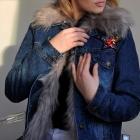 Jeansowa kurteczka z futerkiem na zimę