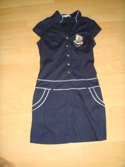 Sukienka marynarska granatowa 36 mini