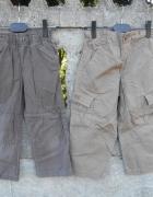 brązowe spodnie 98 104 dwie pary Cherokee i inne
