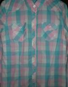 Koszula krata pastelowa S