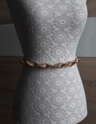 Złoty ozdobny pasek taliowy sprężynka 70 cm...