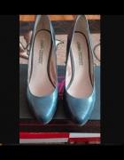 Granatowe buty ze skóry 39