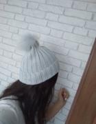 Nowa czapka szara z pomponem primark...
