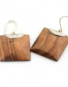 Kolczyki wykonane z drewna SONO