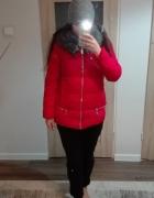 ZImowa piękna czerwona kurtka M
