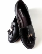 Tassel Loafers czarne klasyczne