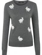 Szary sweterek w króliczki George...