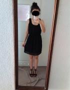 Czarna sukienka na szelkach Zara S szyfonowa nowa...
