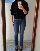 Jeansy diverse S niebieskie spodnie rurki...