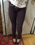 Fioletowe jeansy H&M S 36 nowe skinny low waist...