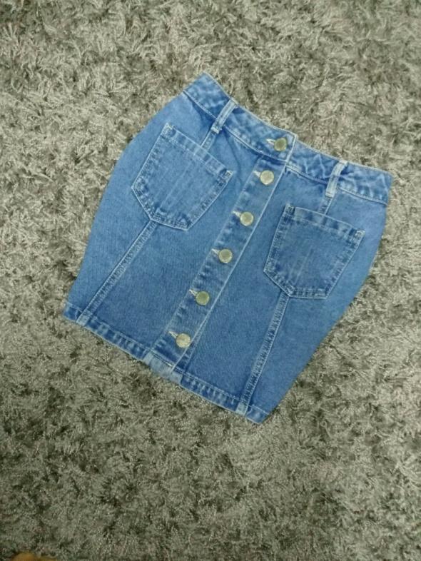 Spódnice spódnica jeans guziki mega jit blogerek xs