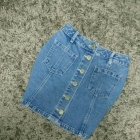 spódnica jeans guziki mega jit blogerek xs