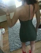sukienka Sylwester plecy zdobienia topshop