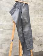 Zara spodnie szare w drobne prążki elastyczne rozm 40