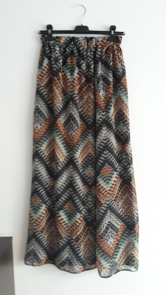 Spódnice Długa spódnica maxi we wzorki