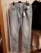 Spodnie Jasne jeansy River Island z metką 32 32 Slim fit...