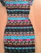 Sukienka etno rozmiar S Boohoo