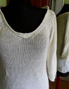Biały Sweter bluzka Solar XL...