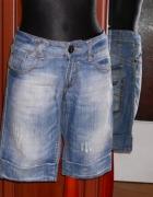 40 Bershka krótkie spodenki jeansowe dżinsowe...