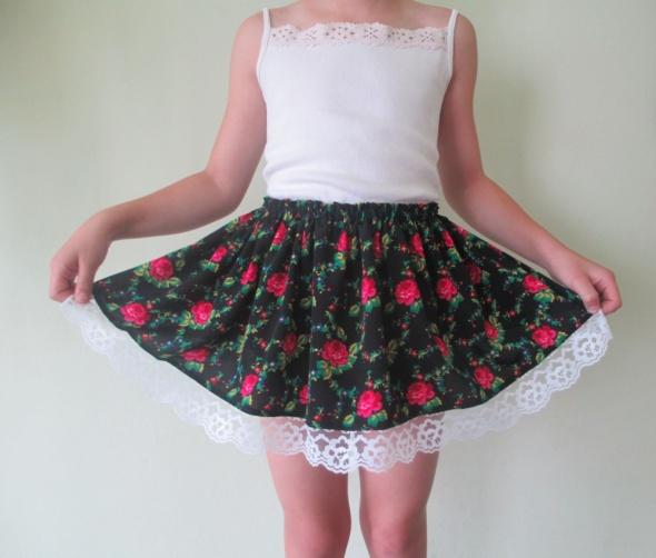 Sukienki i spódniczki Spódnica krakowska strój krakowski dla dziewczynki