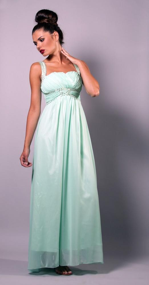 sukienka długa tiulowa nowa miętowa 36