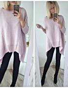Sweter pudrowy róż