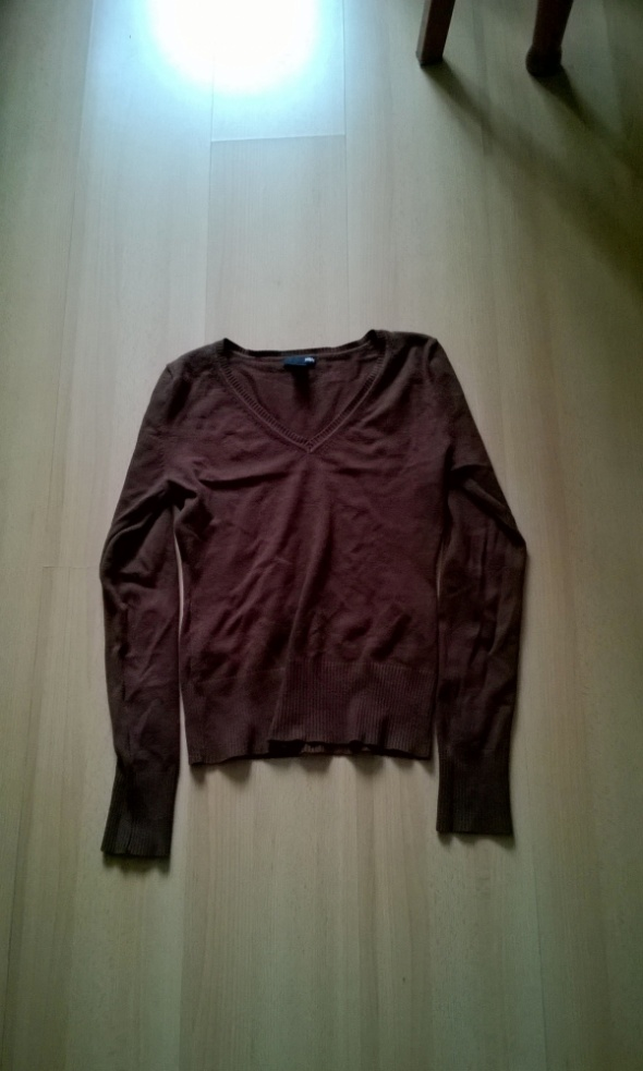Swetry brązowy sweter H&M