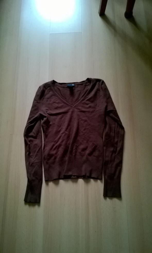 brązowy sweter H&M